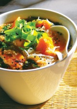 Pumpkin miso noodles