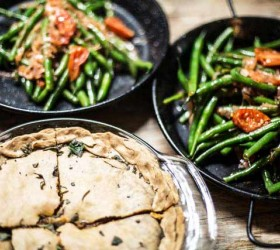 lentil-pie-with-green-beans-in-back